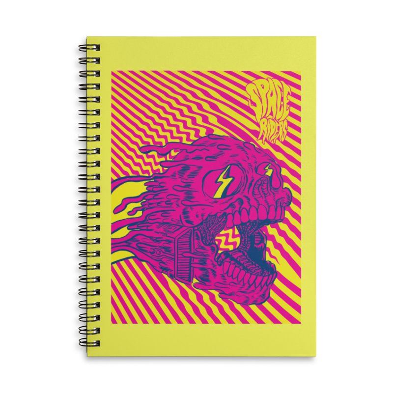 Space Riders - Loco Accessories Lined Spiral Notebook by Alexis Ziritt