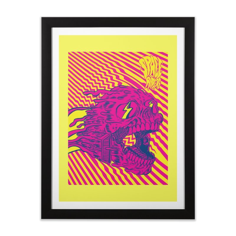 Space Riders - Loco Home Framed Fine Art Print by Alexis Ziritt