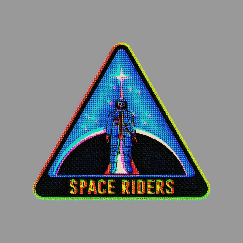 Space Riders - Glitch  Women's T-Shirt by Alexis Ziritt