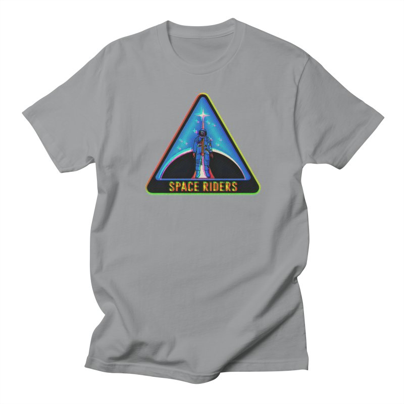 Space Riders - Glitch  Men's Regular T-Shirt by aziritt's Artist Shop
