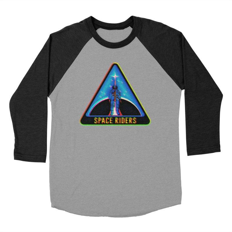 Space Riders - Glitch  Men's Longsleeve T-Shirt by Alexis Ziritt