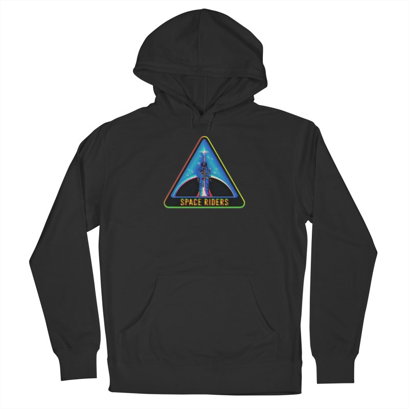 Space Riders - Glitch  Women's French Terry Pullover Hoody by Alexis Ziritt