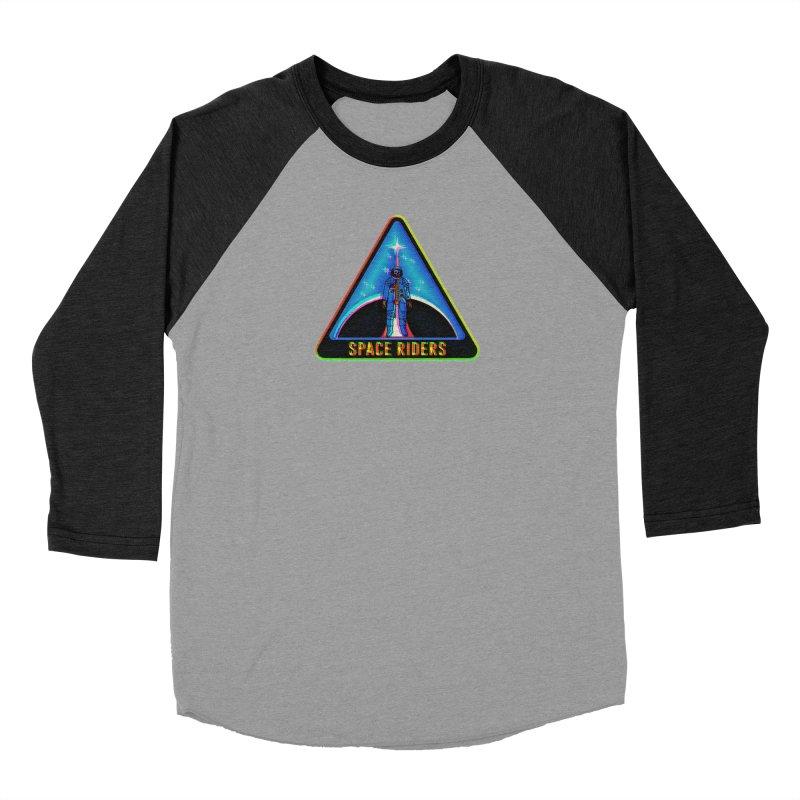 Space Riders - Glitch  Women's Baseball Triblend Longsleeve T-Shirt by Alexis Ziritt
