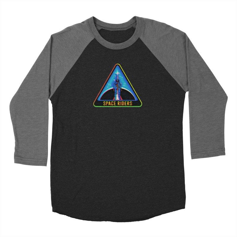 Space Riders - Glitch  Men's Baseball Triblend Longsleeve T-Shirt by Alexis Ziritt