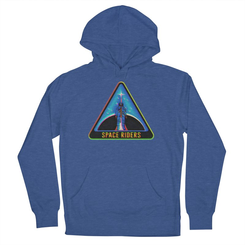 Space Riders - Glitch  Women's Pullover Hoody by aziritt's Artist Shop