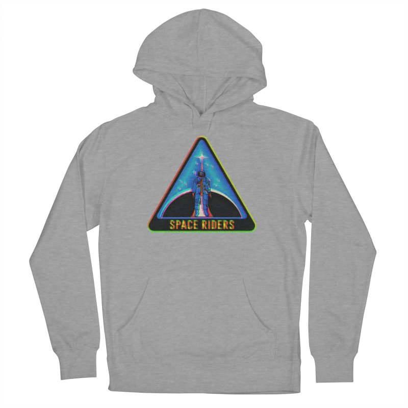 Space Riders - Glitch  Men's French Terry Pullover Hoody by Alexis Ziritt