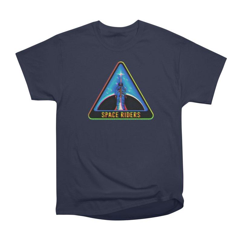 Space Riders - Glitch  Men's Heavyweight T-Shirt by aziritt's Artist Shop