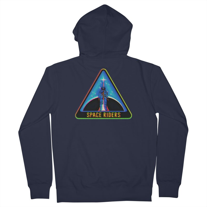 Space Riders - Glitch  Women's French Terry Zip-Up Hoody by Alexis Ziritt