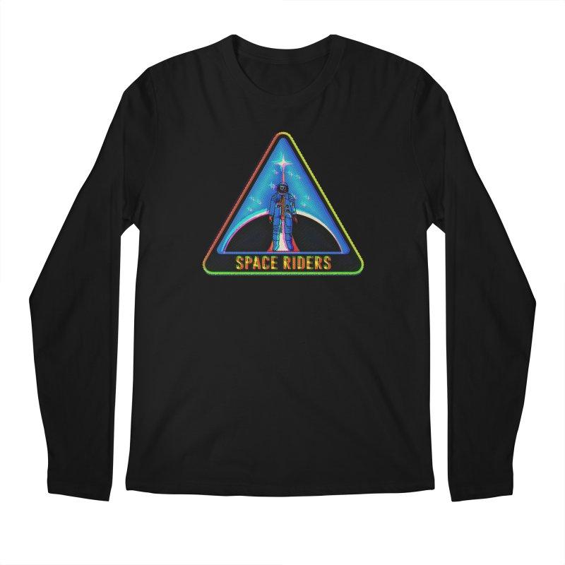 Space Riders - Glitch  Men's Longsleeve T-Shirt by aziritt's Artist Shop
