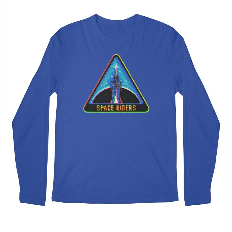 Space Riders - Glitch  Men's Regular Longsleeve T-Shirt by Alexis Ziritt