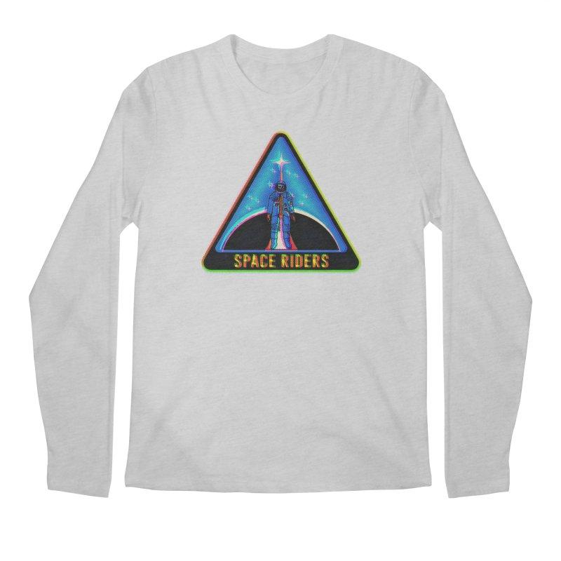 Space Riders - Glitch  Men's Regular Longsleeve T-Shirt by aziritt's Artist Shop