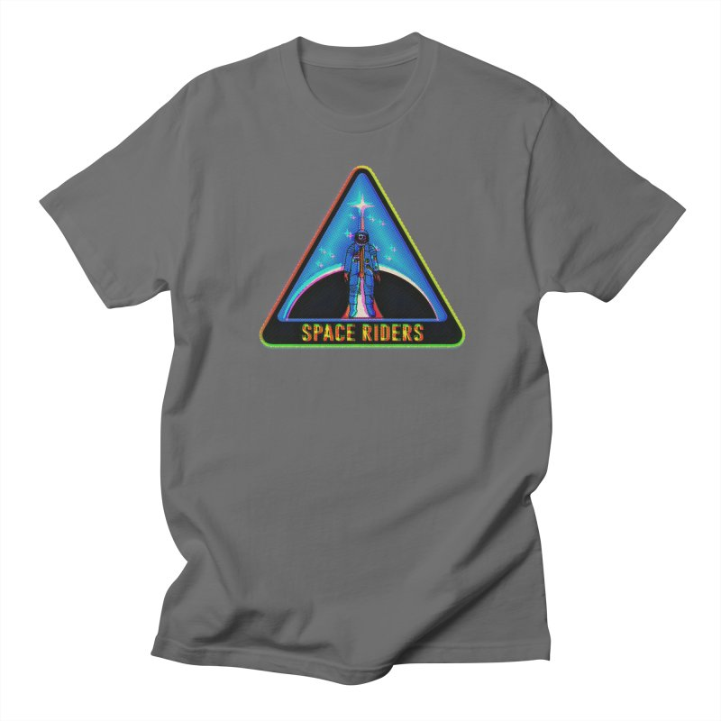 Space Riders - Glitch  Men's Regular T-Shirt by Alexis Ziritt