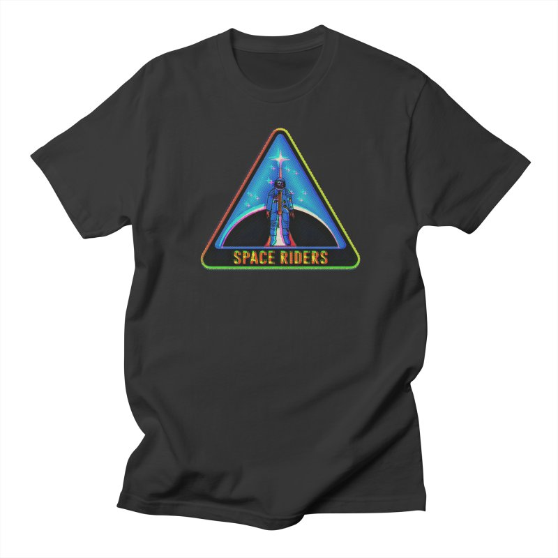 Space Riders - Glitch  Women's Regular Unisex T-Shirt by Alexis Ziritt