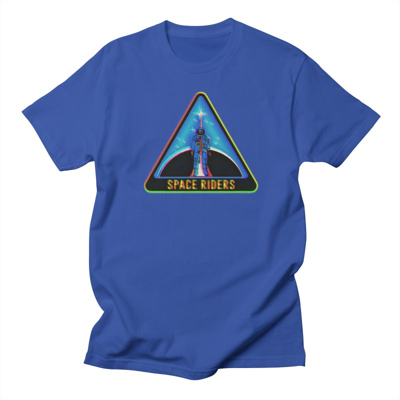 Space Riders - Glitch  Women's Regular Unisex T-Shirt by Alexis Ziritt