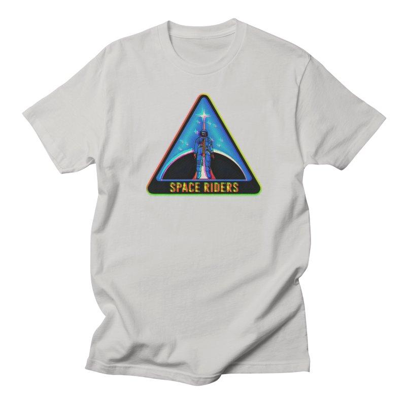 Space Riders - Glitch  Men's T-Shirt by aziritt's Artist Shop