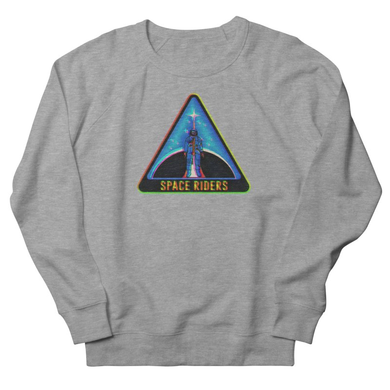 Space Riders - Glitch  Men's French Terry Sweatshirt by Alexis Ziritt