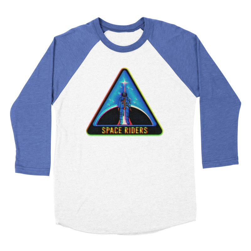 Space Riders - Glitch  Women's Baseball Triblend Longsleeve T-Shirt by Alexis Ziritt