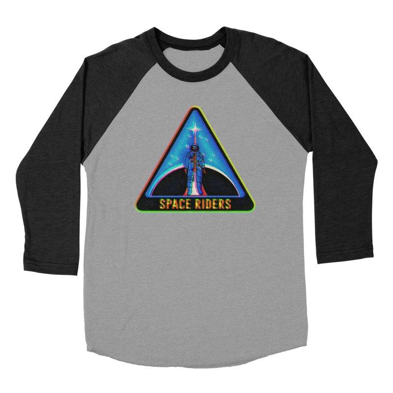 Space Riders - Glitch  Women's Baseball Triblend Longsleeve T-Shirt by aziritt's Artist Shop