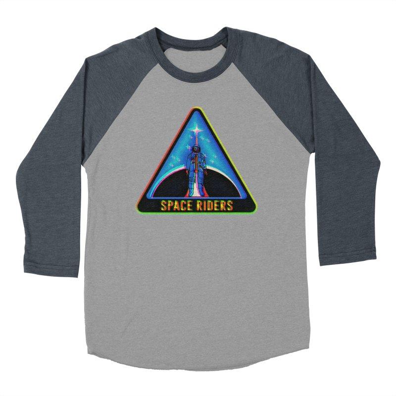 Space Riders - Glitch  Men's Baseball Triblend T-Shirt by aziritt's Artist Shop