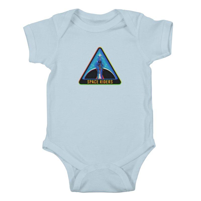 Space Riders - Glitch  Kids Baby Bodysuit by aziritt's Artist Shop