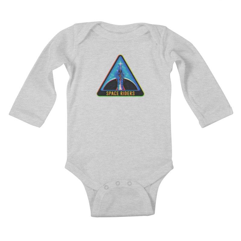 Space Riders - Glitch  Kids Baby Longsleeve Bodysuit by aziritt's Artist Shop