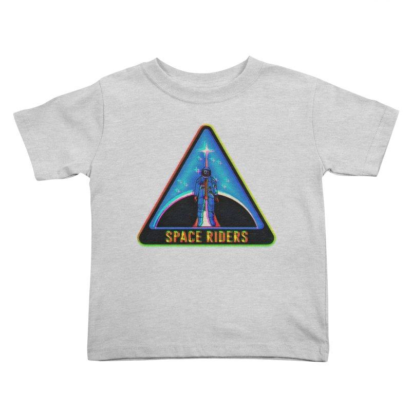 Space Riders - Glitch  Kids Toddler T-Shirt by aziritt's Artist Shop