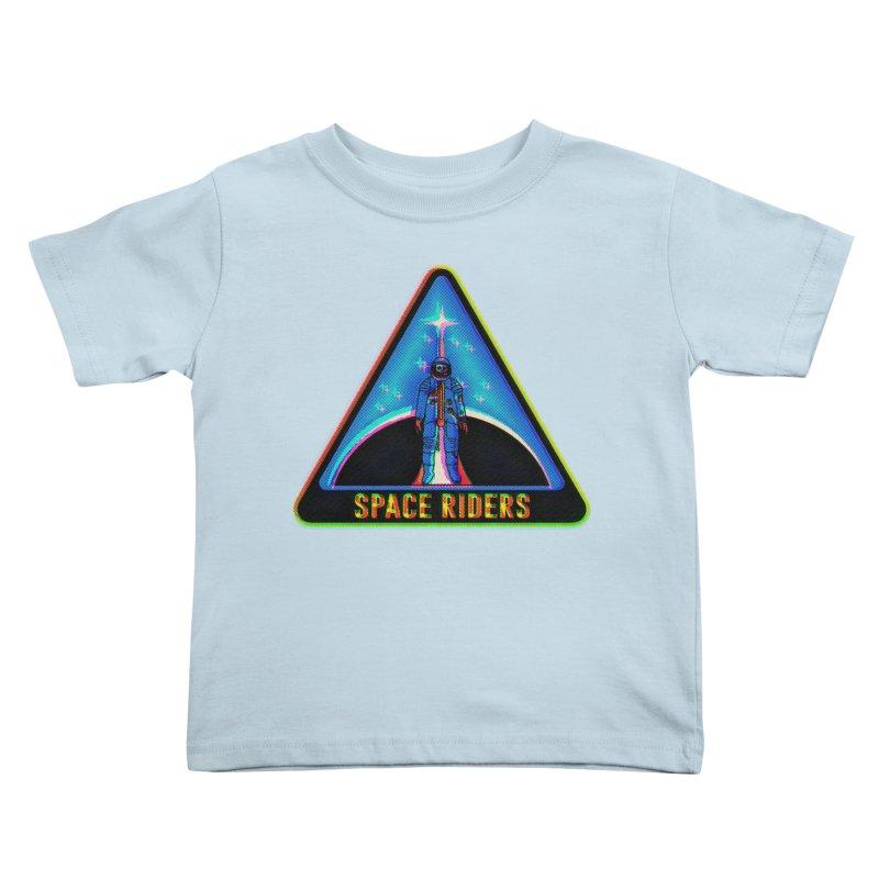 Space Riders - Glitch  Kids Toddler T-Shirt by Alexis Ziritt