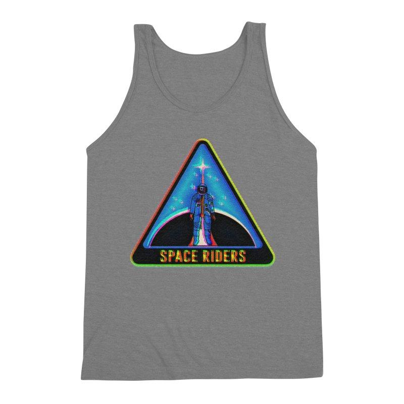 Space Riders - Glitch  Men's Triblend Tank by Alexis Ziritt