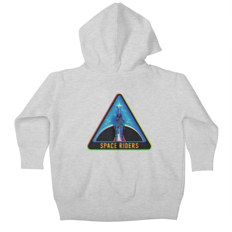 Space Riders - Glitch  Kids Baby Zip-Up Hoody by aziritt's Artist Shop