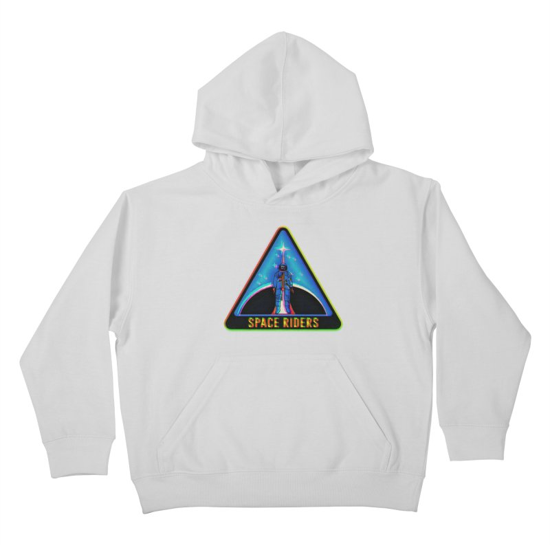 Space Riders - Glitch  Kids Pullover Hoody by Alexis Ziritt
