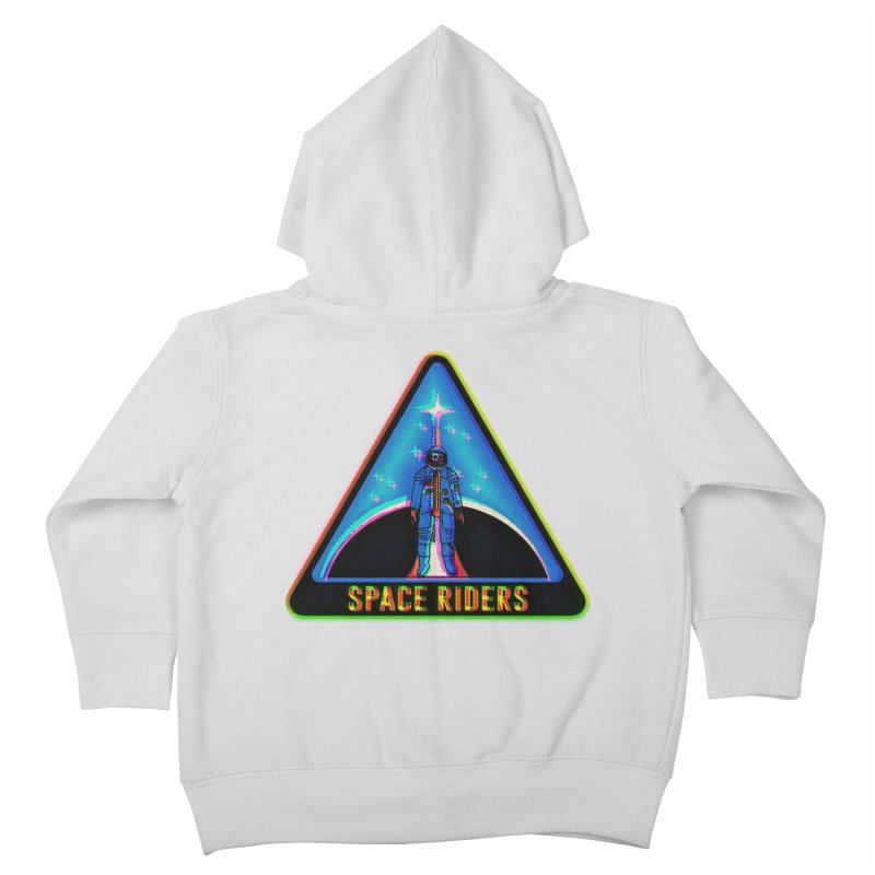 Space Riders - Glitch  Kids Toddler Zip-Up Hoody by Alexis Ziritt