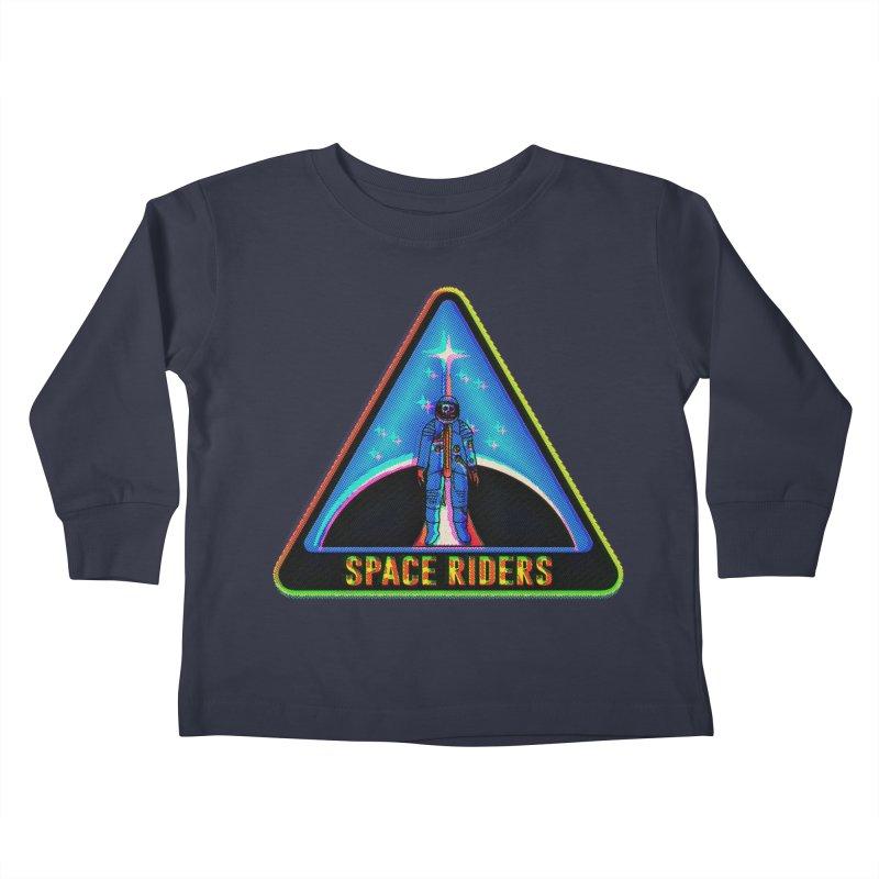 Space Riders - Glitch  Kids Toddler Longsleeve T-Shirt by aziritt's Artist Shop