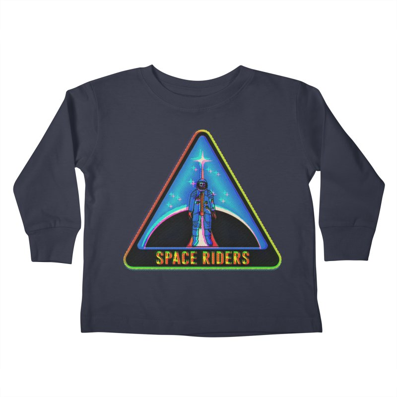 Space Riders - Glitch  Kids Toddler Longsleeve T-Shirt by Alexis Ziritt
