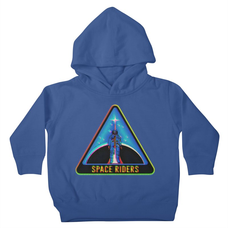 Space Riders - Glitch  Kids Toddler Pullover Hoody by aziritt's Artist Shop