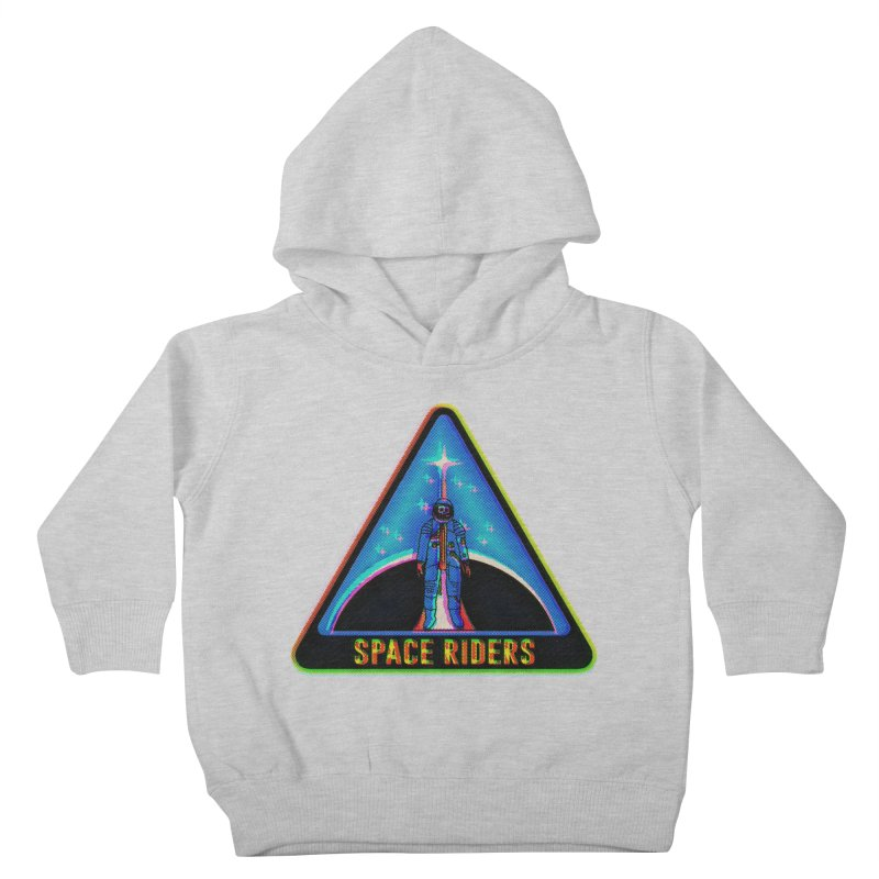 Space Riders - Glitch  Kids Toddler Pullover Hoody by Alexis Ziritt