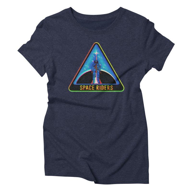 Space Riders - Glitch  Women's Triblend T-Shirt by aziritt's Artist Shop