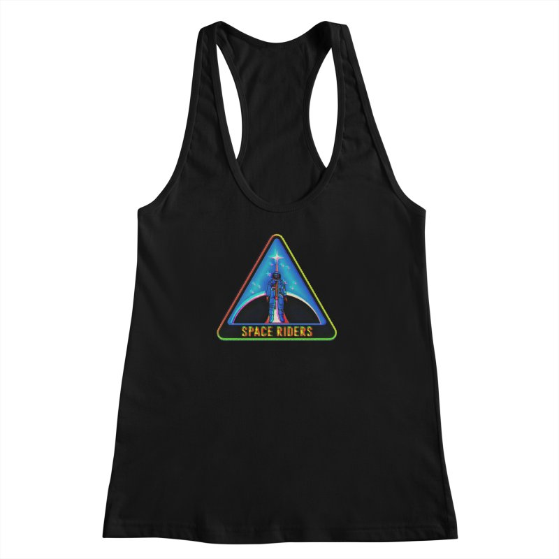 Space Riders - Glitch  Women's Tank by Alexis Ziritt