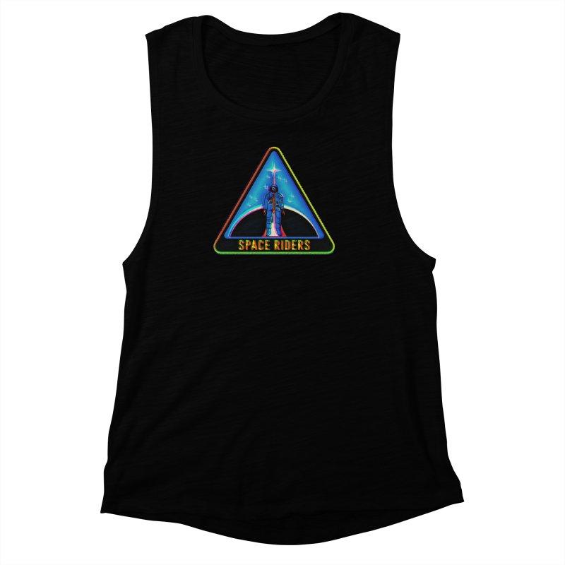 Space Riders - Glitch  Women's Muscle Tank by Alexis Ziritt