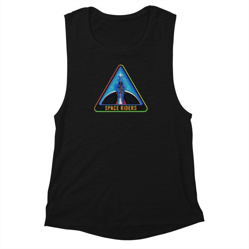 Space Riders - Glitch  Women's Muscle Tank by aziritt's Artist Shop