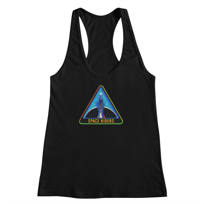 Space Riders - Glitch  Women's Racerback Tank by aziritt's Artist Shop
