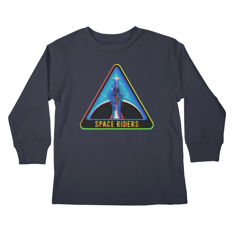 Space Riders - Glitch  Kids Longsleeve T-Shirt by Alexis Ziritt