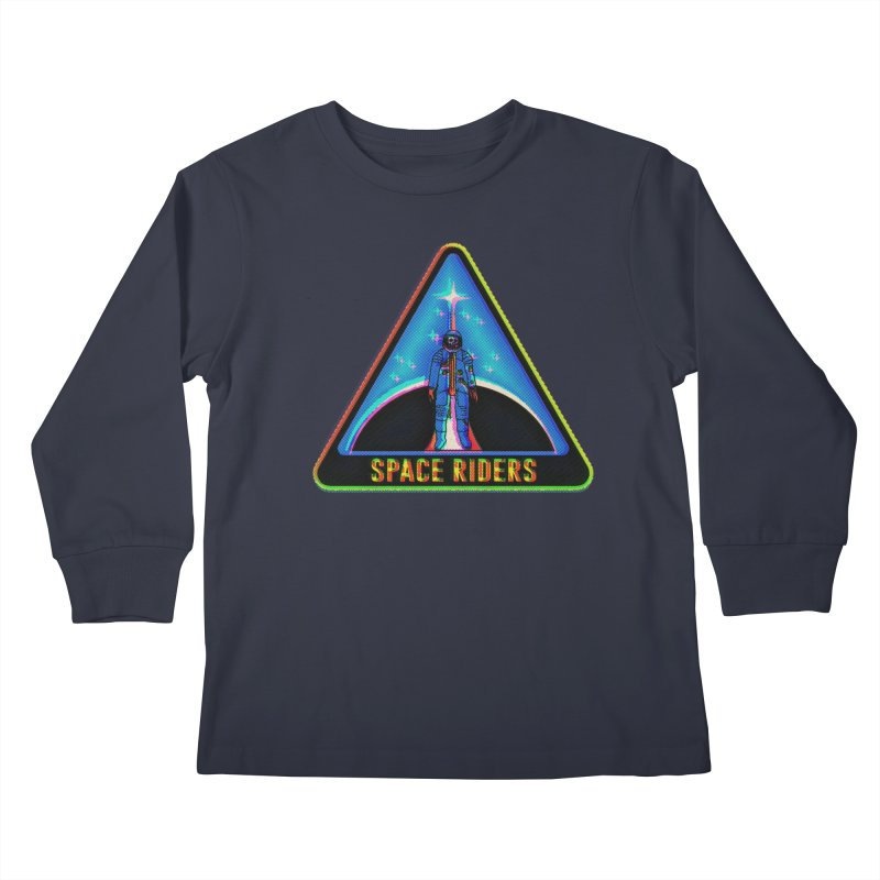 Space Riders - Glitch  Kids Longsleeve T-Shirt by Alexis Ziritt