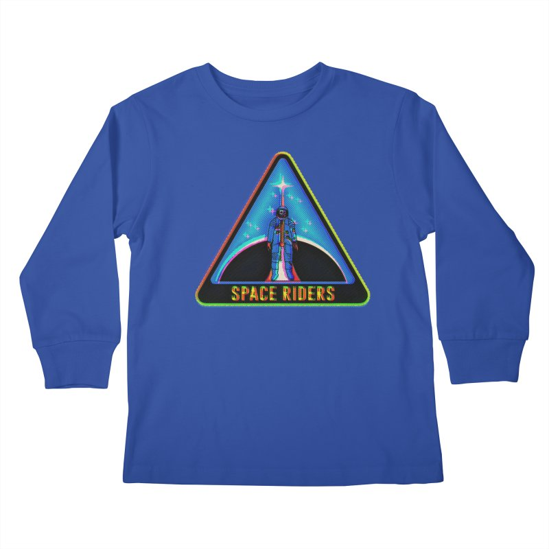 Space Riders - Glitch  Kids Longsleeve T-Shirt by aziritt's Artist Shop