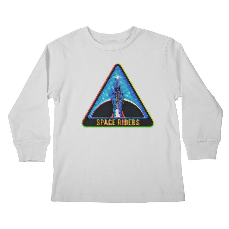 Space Riders - Glitch  Kids Longsleeve T-Shirt by aziritt's Artist Shop