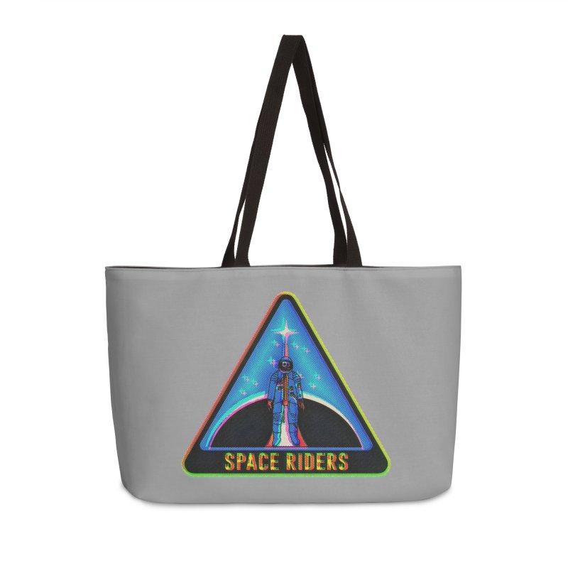 Space Riders - Glitch  Accessories Weekender Bag Bag by Alexis Ziritt