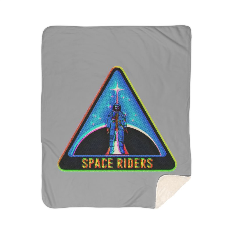 Space Riders - Glitch  Home Sherpa Blanket Blanket by Alexis Ziritt