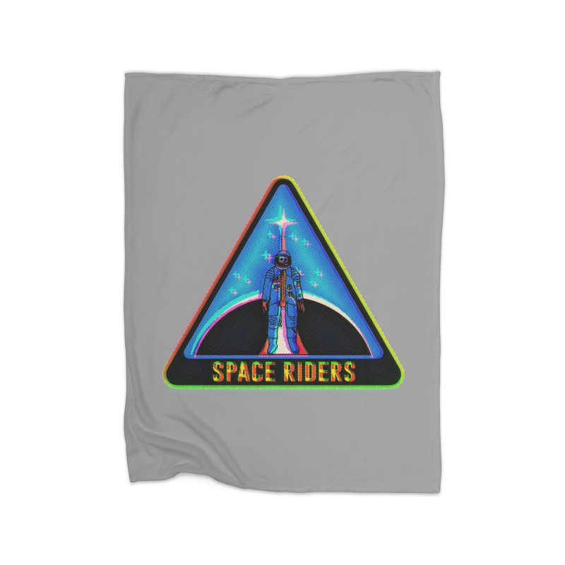Space Riders - Glitch  Home Fleece Blanket Blanket by Alexis Ziritt