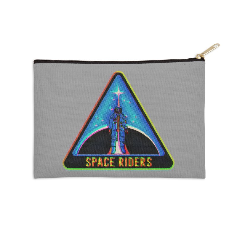 Space Riders - Glitch  Accessories Zip Pouch by Alexis Ziritt