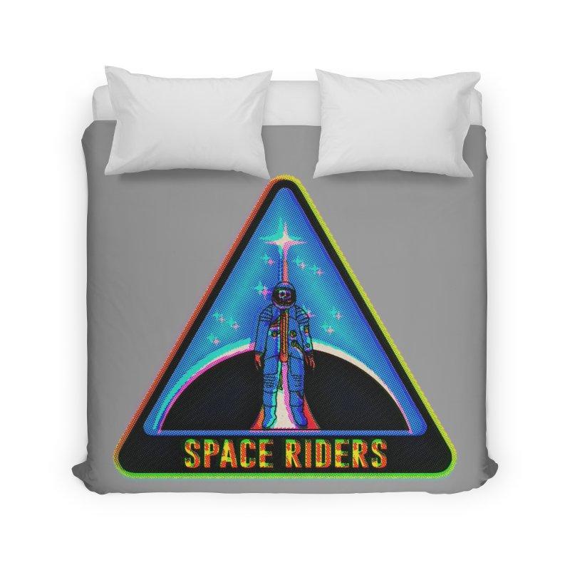 Space Riders - Glitch  Home Duvet by aziritt's Artist Shop