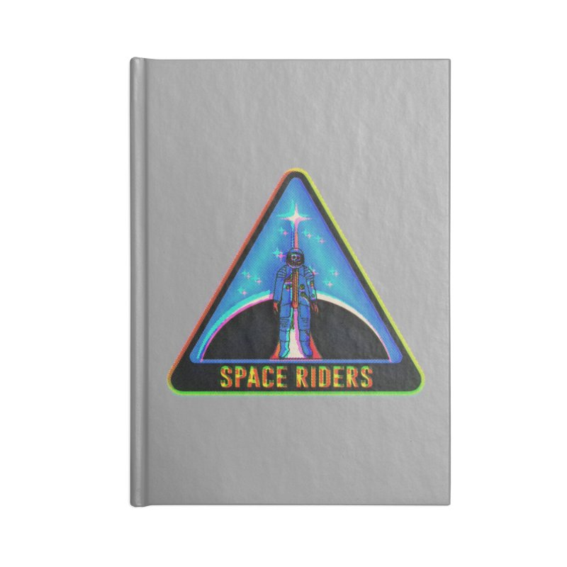 Space Riders - Glitch  Accessories Blank Journal Notebook by Alexis Ziritt
